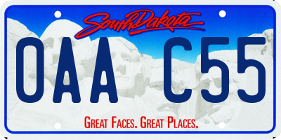 SD license plate 0AAC55