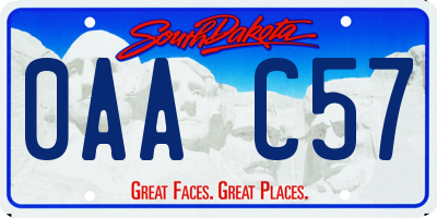 SD license plate 0AAC57
