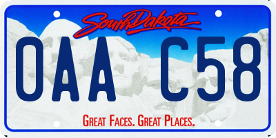 SD license plate 0AAC58