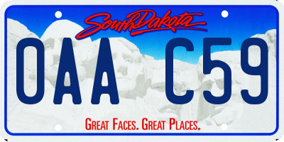 SD license plate 0AAC59