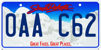 SD license plate 0AAC62