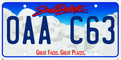 SD license plate 0AAC63