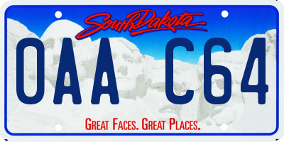 SD license plate 0AAC64