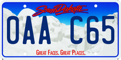SD license plate 0AAC65