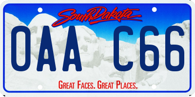 SD license plate 0AAC66