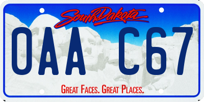 SD license plate 0AAC67