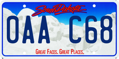 SD license plate 0AAC68