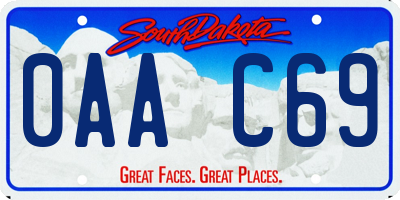 SD license plate 0AAC69