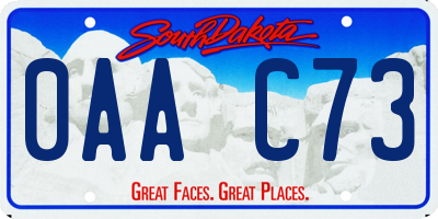 SD license plate 0AAC73