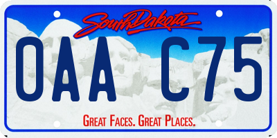 SD license plate 0AAC75