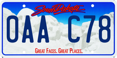 SD license plate 0AAC78