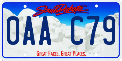 SD license plate 0AAC79