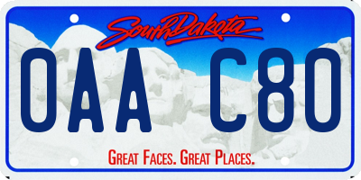 SD license plate 0AAC80