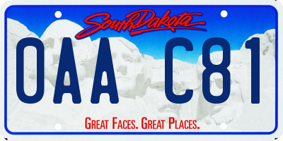 SD license plate 0AAC81
