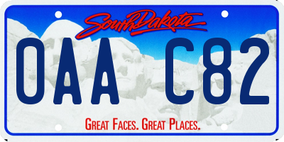 SD license plate 0AAC82