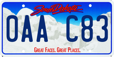 SD license plate 0AAC83
