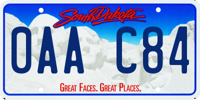 SD license plate 0AAC84