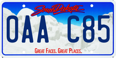 SD license plate 0AAC85