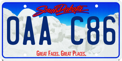 SD license plate 0AAC86