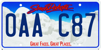 SD license plate 0AAC87