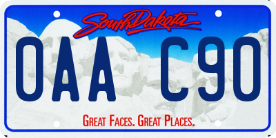 SD license plate 0AAC90