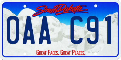 SD license plate 0AAC91