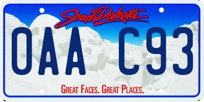 SD license plate 0AAC93