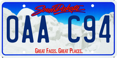 SD license plate 0AAC94