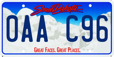 SD license plate 0AAC96