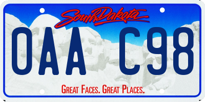 SD license plate 0AAC98