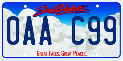 SD license plate 0AAC99