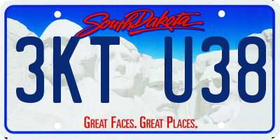 SD license plate 3KTU38