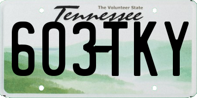 TN license plate 603TKY