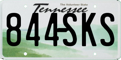 TN license plate 844SKS