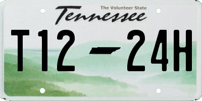 TN license plate T1224H