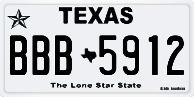 TX license plate BBB5912