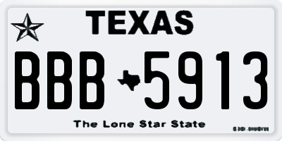 TX license plate BBB5913