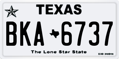 TX license plate BKA6737