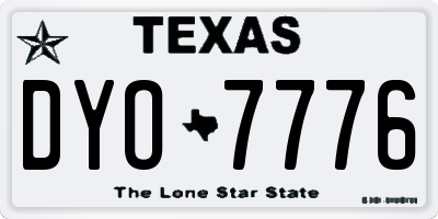 TX license plate DYO7776