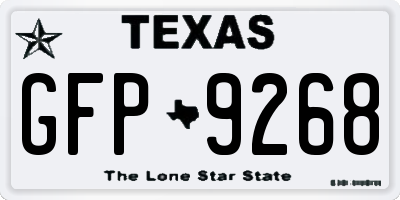 TX license plate GFP9268
