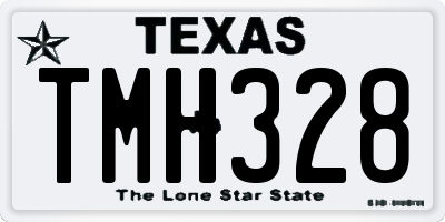 TX license plate TMH328