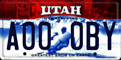 UT license plate A000BY