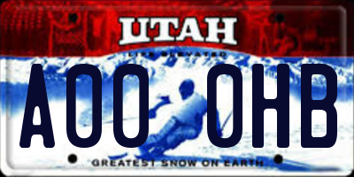 UT license plate A000HB