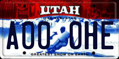 UT license plate A000HE