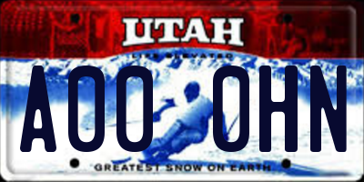 UT license plate A000HN