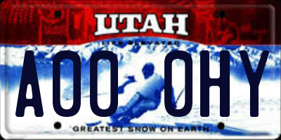 UT license plate A000HY