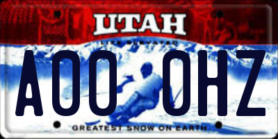 UT license plate A000HZ