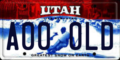 UT license plate A000LD