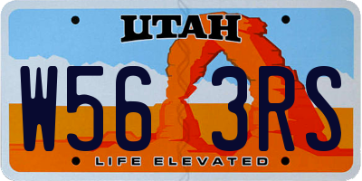 UT license plate W563RS