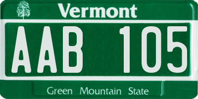 VT license plate AAB105